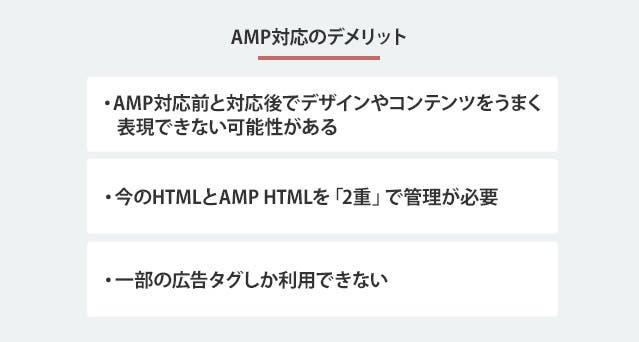 AMP対応のデメリット