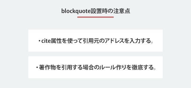 blockquote設置時の注意点
