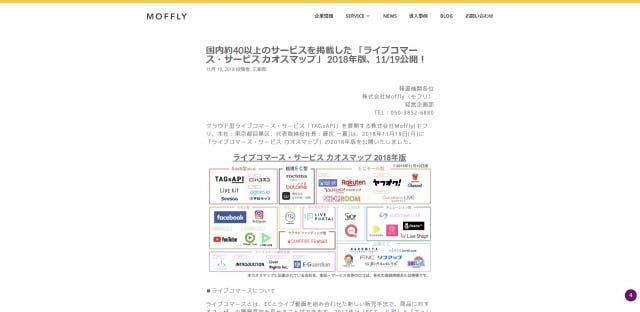 ライブコマース・サービス カオスマップ 2018年版