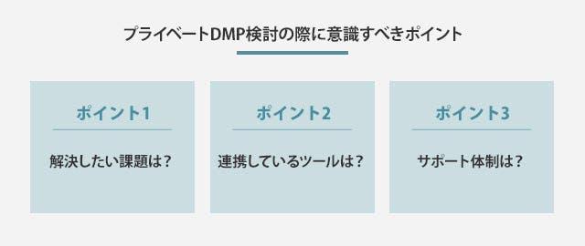 プライベートDMPを検討の際に意識すべき3つのポイント