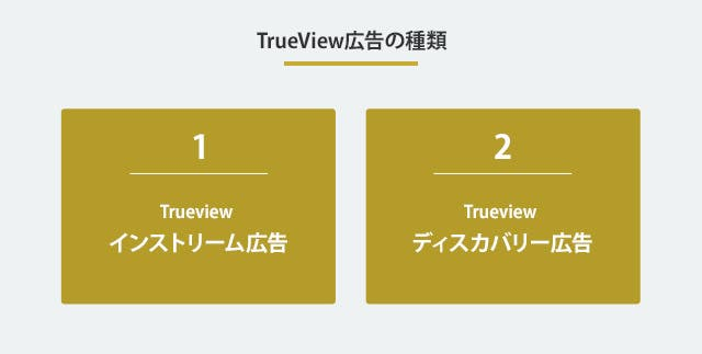 TrueView広告の種類