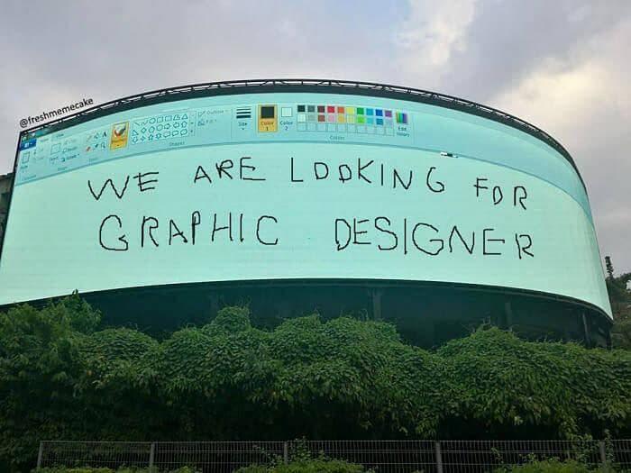 ユニークな求人広告