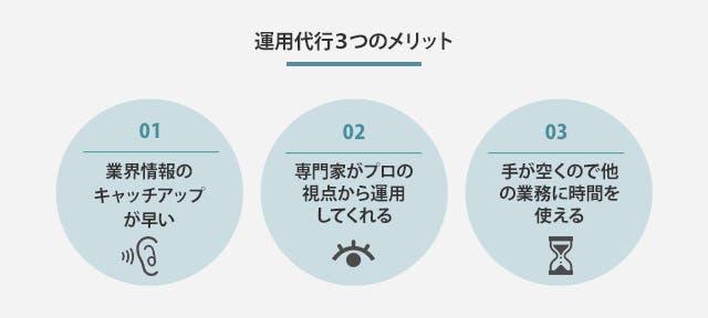 運用代行3つのメリット