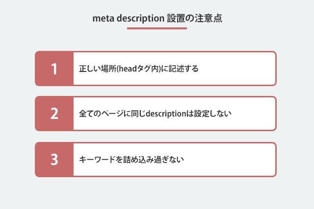 meta description設置の注意点