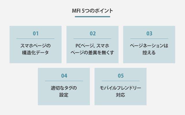 MFI 5つのポイント