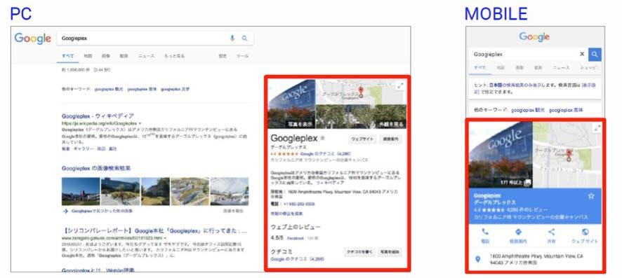 Googleマイビジネスの掲載場所