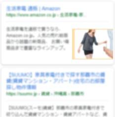 例:モバイル検索結果